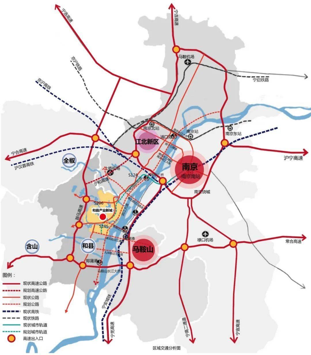 和县乌江区位交通图