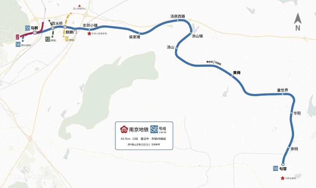 ▲ 宁句城际(S6号线)线路示意图
