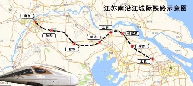 ▲ 南沿江城际线路示意图