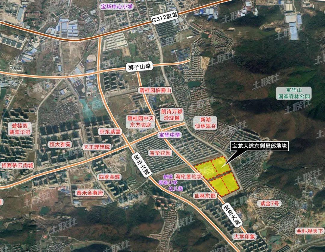▲ 张家岗片区地块位置图
