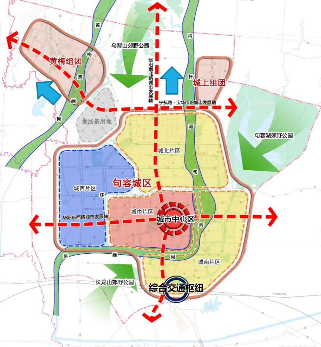 ▲ 句容城市规划片区分布