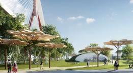 占地3.5万平方米!杨浦大桥公共空间正新建城市公园