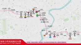 轨交13号线拟向西延伸5站,来看线路示意图