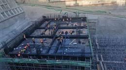 青岛地铁6号线朝阳山CBD站主体开挖完成