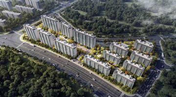 毛坯限价2.45万/㎡!路劲栖霞山地块拟建13栋住宅,三家合作!