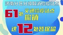 """禁止""""封路""""""""封村"""" 济南撤销61个交通检疫站点"""